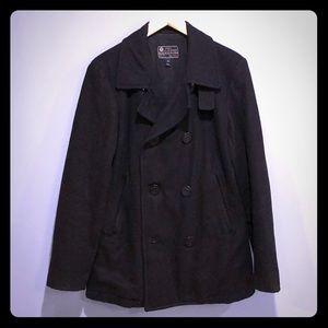 J. Crew Men's Pea Coat sz SM Black